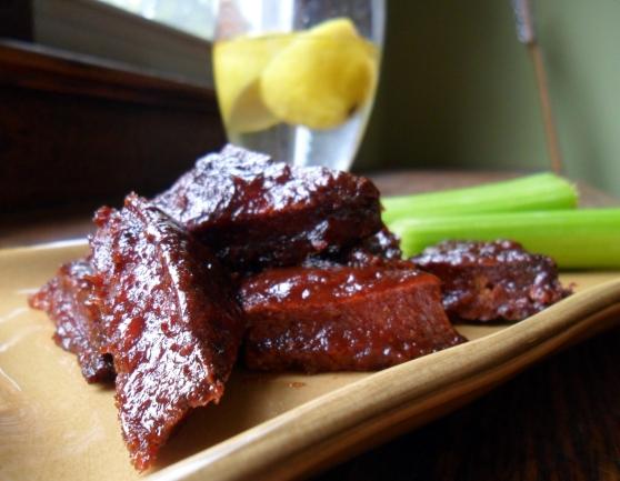 Spicy Pineapple Habanero BBQ Tofu (Vegan!)