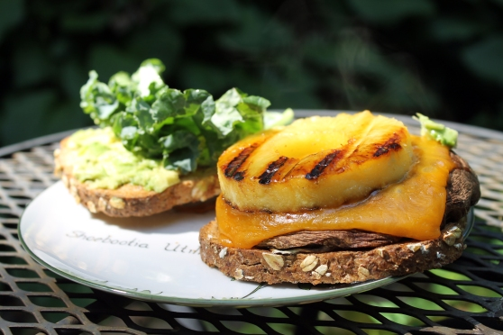 Grilled Pineapple and Portobello Mushroom Sandwich