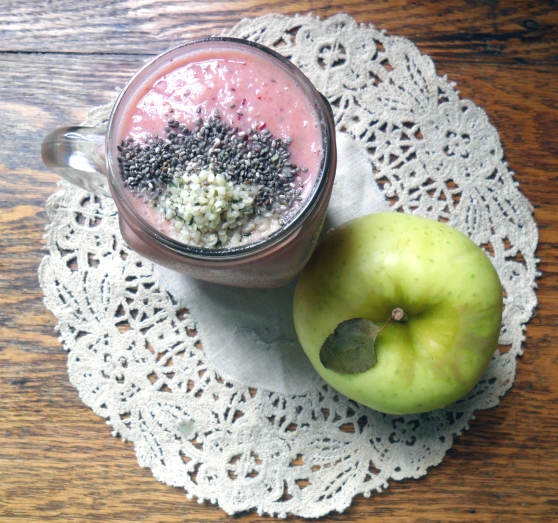Cherry and Peach Cobbler Smoothie