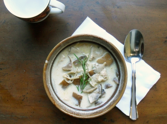 Cream of Mushroom Soup with Truffle Butter- Soup Week!
